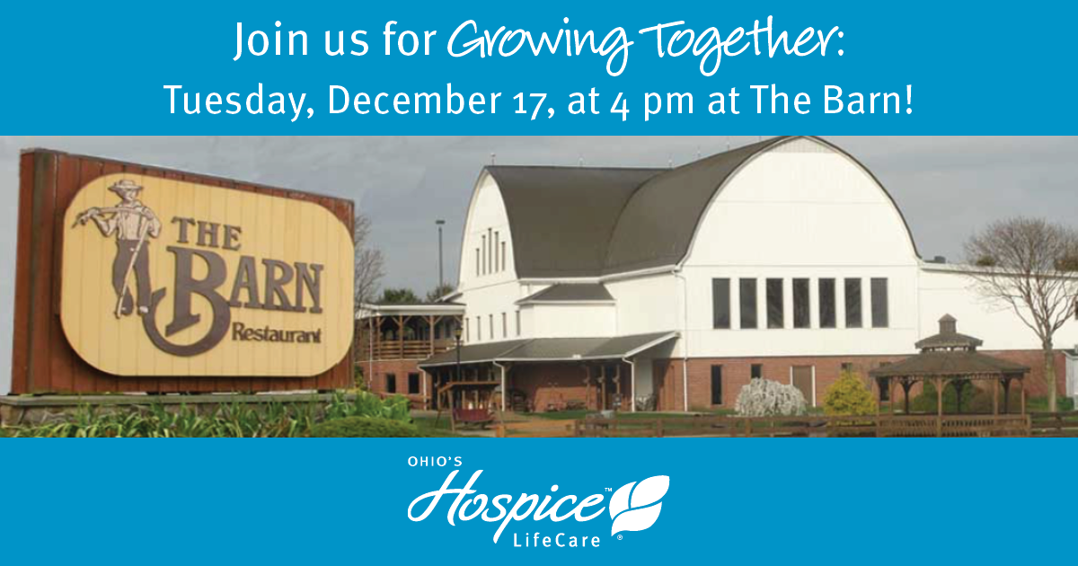 Ohio's Hospice LifeCare's Growing Together Bereavement Support Group To Meet On Dec. 17
