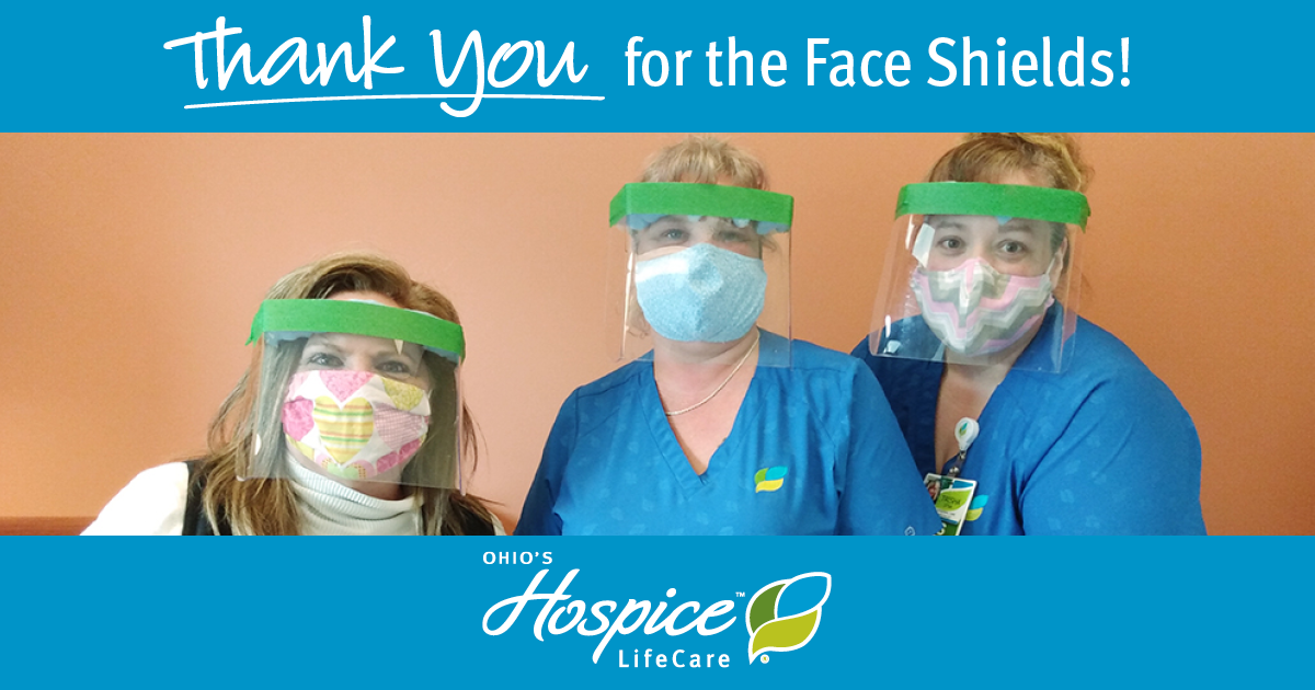 Ohio's Hospice LifeCare Volunteer Makes Face Shields For Staff