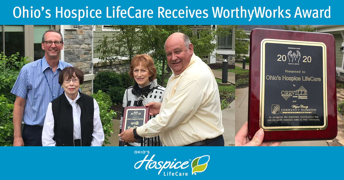 Ohio's Hospice LifeCare Recognized With WorthyWorks Award