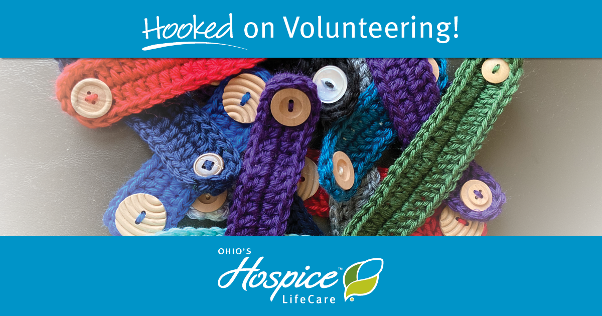 Volunteers Crochet Face Mask Extenders For Ohio's Hospice LifeCare Clinical Team