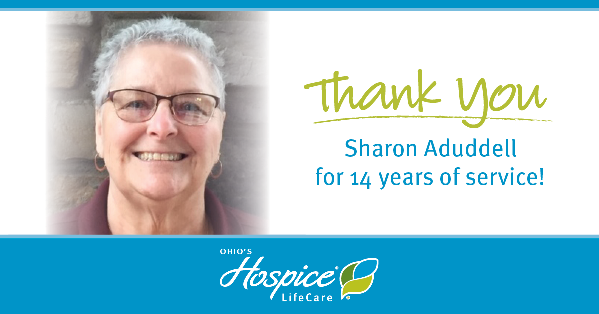 Thank You Sharon Aduddell For 14 Years Of Service! - Ohio's Hospice LifeCare