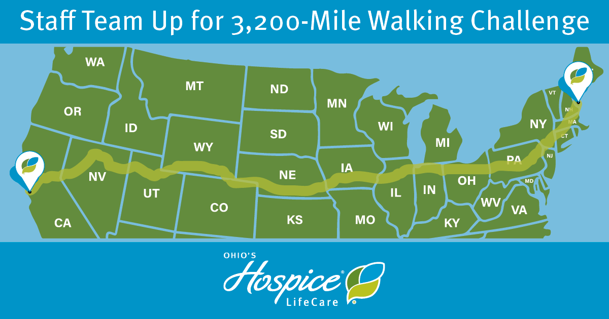 Staff Team Up For 3,200-Mile Walking Challenge - Ohio's Hospice LifeCare