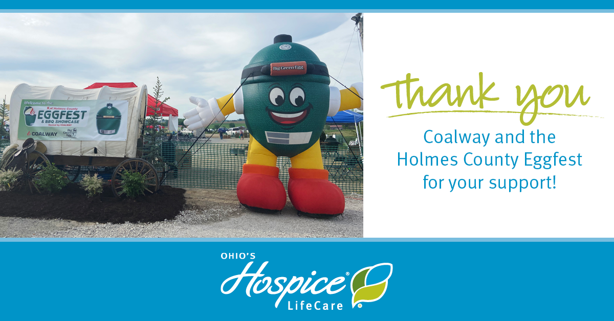 Thank You Coalway And The Holmes County Eggfest For Your Support! - Ohio's Hospice LifeCare
