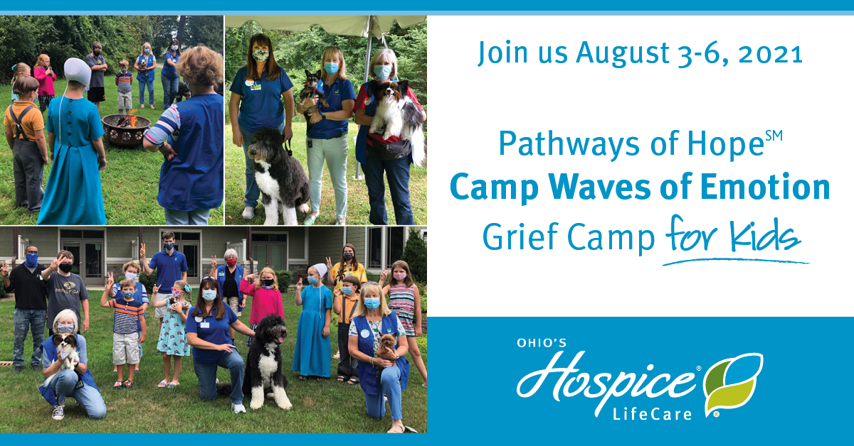 Join Us August 3-6, 2021 Pathways Of Hope Camp Waves Of Emotion: Grief Camp For Kids - Ohio's Hospice LifeCare